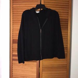 Cropped zip up sweatshirt